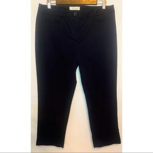 Talbots women's size 12 petite navy cropped pants